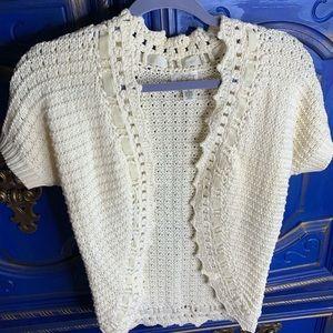 Vintage Ann Taylor Loft Knit Open Cardigan Small